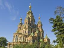Peterhof domkyrka av St Peter och St Paul Arkivfoton