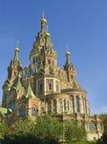 Peterhof domkyrka av St Peter och St Paul Royaltyfri Fotografi