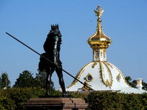 Peterhof em Rússia imagem de stock royalty free