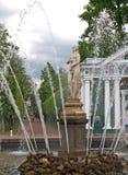 Peterhof. The Eve fountain in Nizhny park Royalty Free Stock Photos