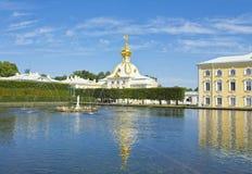 Peterhof, fontanny Obraz Royalty Free