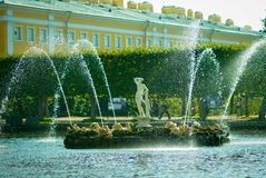 Peterhof fountain Apolino Stock Photo