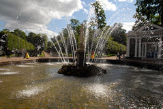Peterhof fountain named Fountain  Royalty Free Stock Photos