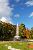Peterhof. The fountain , the Sun and the Moon Stock Images