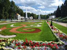 Peterhof gardens Royalty Free Stock Photography