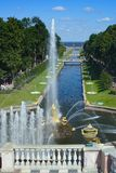 Peterhof, Grand cascade Stock Photos