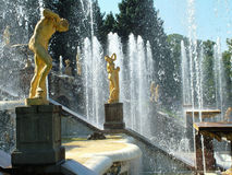 Peterhof. Grand Cascade. Large palace of museum complex Petrodvo Stock Photography