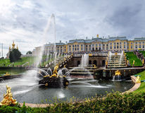 Peterhof. Grand cascade and Samson fountain Stock Image