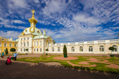 peterhof grand de palais photographie stock libre de droits