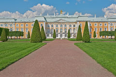 Peterhof Grand Palace Park Stock Photo