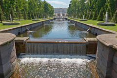 Peterhof Grand Palace Park Stock Photos