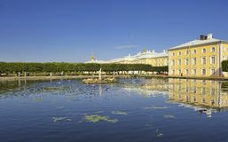 Peterhof Heilige Petersburg Stock Afbeeldingen