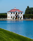 Peterhof. The Marly Palace on the bank of the Big Marlinsky pond. Stock Images