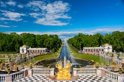 The Peterhof Museum Reserve. Royalty Free Stock Photo