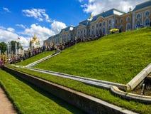 Peterhof pałac, kopuła Zdjęcia Stock