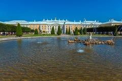 Peterhof pałac przy dniem, święty Petersburg Obrazy Stock
