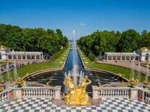 Peterhof pałac Obrazy Royalty Free