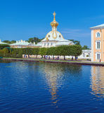 Peterhof Palace at Day, Saint Petersburg Stock Photos
