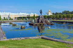 Peterhof Palace at Day, Saint Petersburg Stock Photo