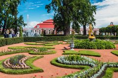 The Peterhof Palace included in the UNESCO``s World Heritage Lis Royalty Free Stock Images
