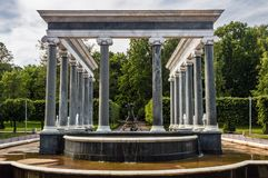 The Peterhof Palace included in the UNESCO``s World Heritage Lis Royalty Free Stock Image