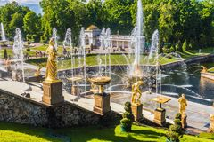Peterhof Palace included in the UNESCO``s World Heritage List Stock Photography