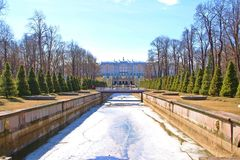 Peterhof Palace in late winter Stock Photography
