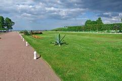 Peterhof Palace.Lower Park gardens Royalty Free Stock Photo