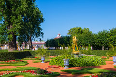 Peterhof palace lower park Stock Images