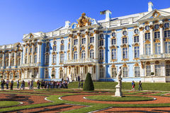 Peterhof Palace in Saint Petersburg. This photo was taken in Peterhof Palace in Saint Petersburg, Russia. The Peterhof Palace (Russian: Петерго́ф; IPA Stock Image