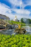 The Peterhof Palace, Saint Petersburg, Russia. Resting place of the great leaders Royalty Free Stock Photo