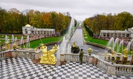 Peterhof Palace in Saint Petersburg, Russia Stock Photography