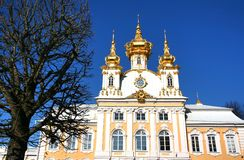 The Peterhof Palace is a series of palaces and gardens located in Petergof, Saint Petersburg, Russia Royalty Free Stock Image