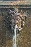 Peterhof Palace St Petersburg, Russia. Masque - detail of a fountain in Upperer Garden. The Peterhof Palace included in Stock Images