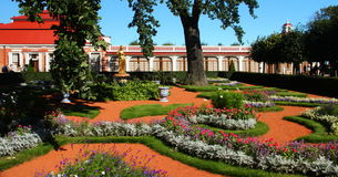 Peterhof Palace. St Petersburg. The Peterhof Palace is a series of palaces and gardens located in Petergof, Saint Petersburg, Russia, laid out on the orders of stock photo