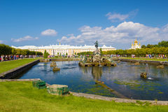Peterhof palace upper park Stock Image