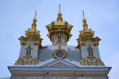 Peterhof palace in wintertime - Russia Royalty Free Stock Image