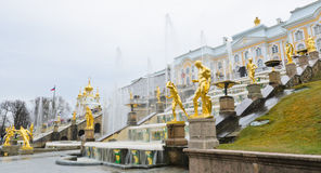 Peterhof-Palast, Russland Stockfotos