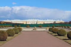 Peterhof palce under construction Royalty Free Stock Photos