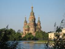Peterhof. Peter en Paul Cathedral Royalty-vrije Stock Foto