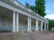 Peterhof (Peter Hof/Tuin) is een reeks paleizen en tuinen, op de orden van Peter Groot wordt opgemaakt, en soms genoemd Russisch  Stock Afbeelding