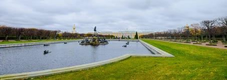 Peterhof Petrodvorets, St. Petersburg, Russia stock images