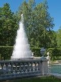 Peterhof. The Pyramid fountain in Nizhny park Royalty Free Stock Photos