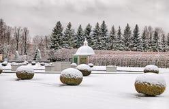 Peterhof Rússia O jardim superior Fotografia de Stock Royalty Free
