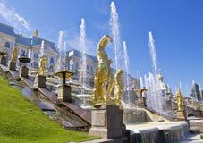 Peterhof, Rosja Obrazy Royalty Free