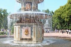 Peterhof Rusland Roman Fountain Royalty-vrije Stock Afbeelding
