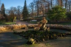 Peterhof, Russia, fontane senza acqua Fotografia Stock