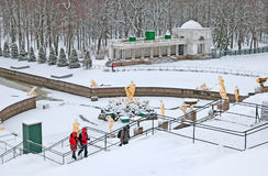 Peterhof. Russia. The Grand Cascade Royalty Free Stock Image
