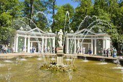 Peterhof, Russia, fountain Royalty Free Stock Images