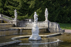 PETERHOF, RUSSIA-MAY 19: The fountain in park of Petrodvorets Royalty Free Stock Photos